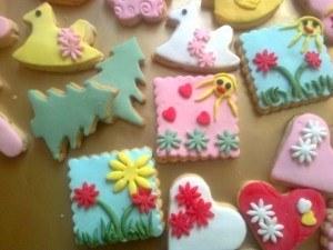 Şeker hamurlu süslü çocuk  kurabiyelerim